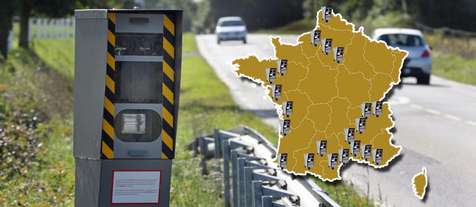 Cartes des radars double sens en France