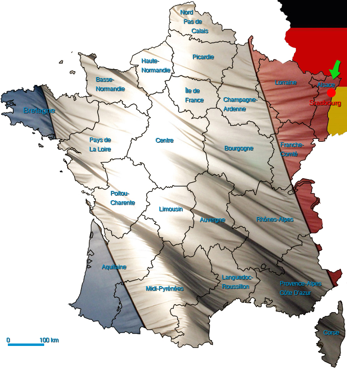 Carte des livraisons en France